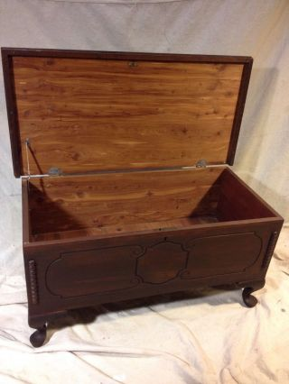 Chest Antique Solid Cedar See12pix4 Size&etc.  Ships Greyhound Exprs$69.  Make Offer photo
