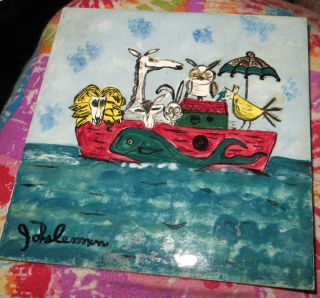 Art Tile Noah ' S Ark Animals John Lennon ? From Hotel Chelsea York Nyc L@@k photo