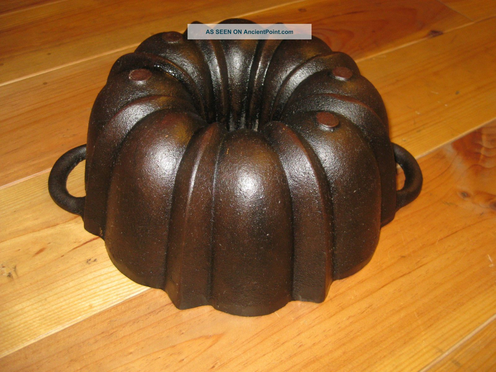 Very Old And Antique Cast Iron Bundt Pan Massive Heavy Quality Germany 3318 G Other Antique Home & Hearth photo