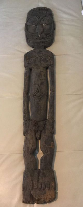 Antique African Tribal Figure Carved Wood Tribal Art Male Figure photo