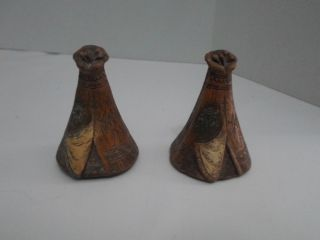 Native American Indian Tee Pee Salt And Pepper Shakers photo