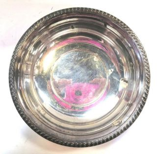 Vintage Art Silver Co.  Silverplate Bowl 21 Silver Plated Copper 6 X 1 3/8