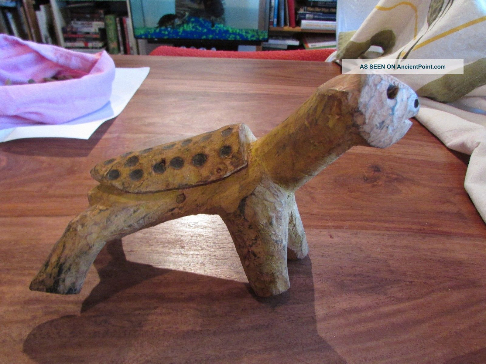 Turtle Wood Carved Small Animal Statue Samburu Archeps Post North Kenya Sculptures & Statues photo