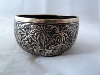 19th Century White Metal Persian,  Ottoman,  Mamluk,  Qajar Bowl photo