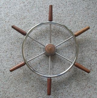 Vintage Boat Steering Wheel 23 1/2