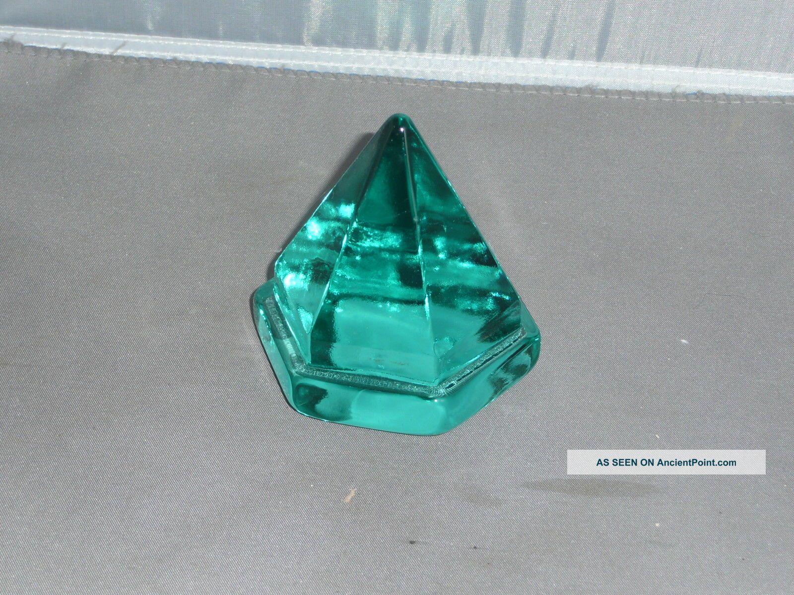 Ship ' S Deck Prism Small Aqua Prism Other Maritime Antiques photo
