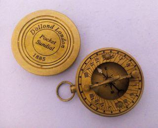 Antique Compass @ Brass Pocket Sundial Magnetic Compass @ Nautical Brass Compass photo