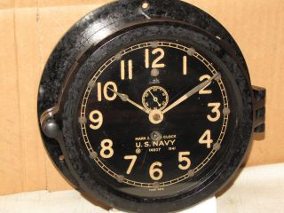 Chelsea Ww2 Antique Deck Clock Ser 317514 6