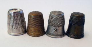 4 Thimbles - Prym,  Brass & Gadget photo