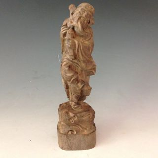 Chinese Chen Xiang Wood Hand - Carved Statue - - God For Tie Guai Li photo