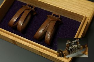 Japan Antiques Edo Tachi Daito Good Sword Koshirae Kojiri Saya Samurai Parts photo
