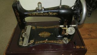 Domestic Model D Sewing Machine With Attachments Ca.  1910 photo
