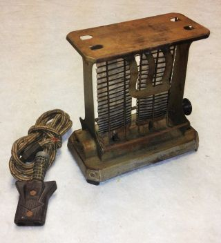 Vintage 1916,  Hotpoint Electric Heating Co,  El Tosto,  Perch Toaster,  With Cord photo