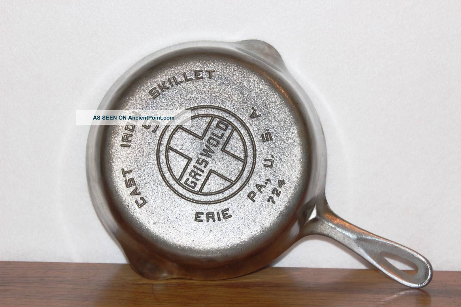 Vintage 1930 - 1939 Griswold P/n 724 Size No.  5 Chrome Plated Cast Iron Skillet Other Antique Home & Hearth photo