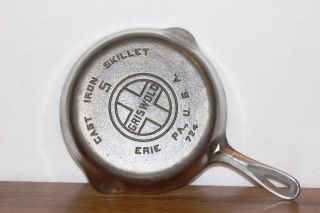 Vintage 1930 - 1939 Griswold P/n 724 Size No.  5 Chrome Plated Cast Iron Skillet photo