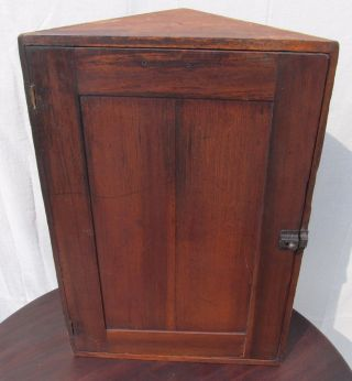 19th Cent.  Victorian Primitive Wall Hung Medicine Corner Cabinet - All photo