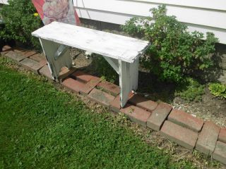 Country Bench In Barn White 12