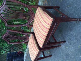 Mahogany Shield Back Chairs Circa 1930 ' S 2 photo