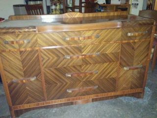 Art Deco Buffet W Mirror (local) photo