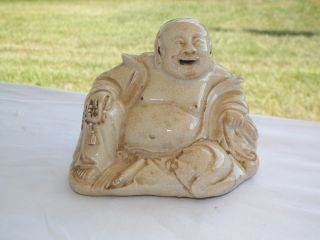 Early ?19th Century? Chinese White Porcelain / Ceramic Laughing Buddha Statue photo