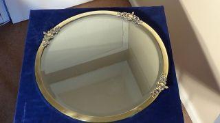 A Edwardian Brass Framed Wall Mirror,  Circa - 1900.  Uk P&p photo