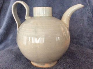 Antique Chinese Crackle Glazed Porcelain Teapot Song Dynasty photo