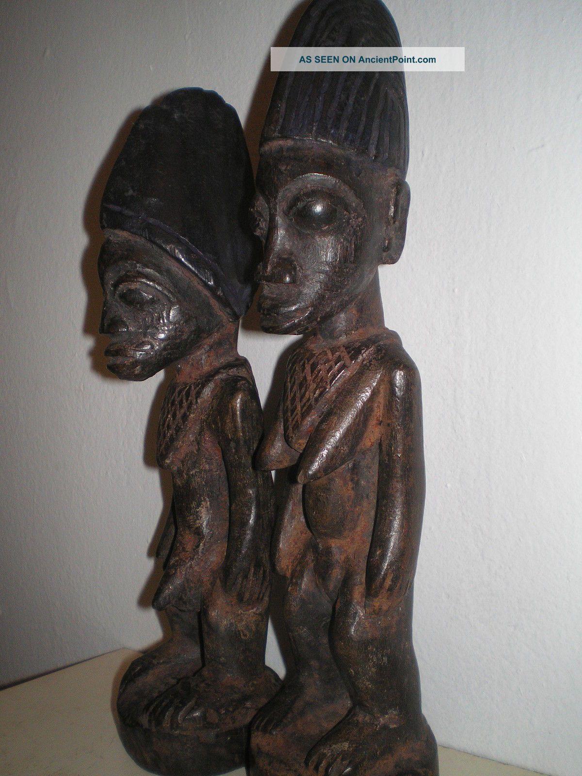 Antique Yoruba Ekiti Ibeji Figures Sculptures & Statues photo
