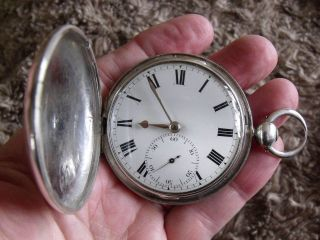 1823 Silver Hunter Pocket Watch ' Barber & Co. ,  York ' Cylinder M/m - Gwo photo