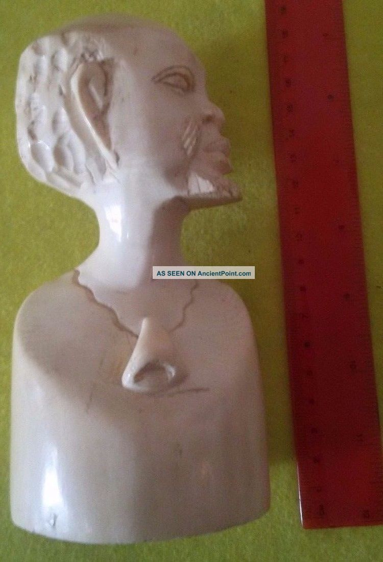 Antique/original Solid Hand Carved Bust/head Tribal/african Sculptures & Statues photo