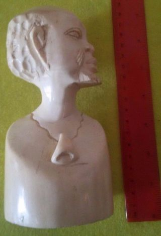 Antique/original Solid Hand Carved Bust/head Tribal/african photo
