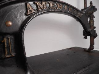 Antique / Vintage American 1 Sewing Machine American Button Hole & Seaming Co photo