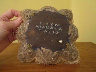 Beaded Antique Pin Cushion - Souvenior From Niagara Falls photo