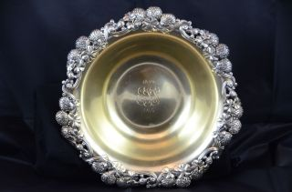 Tiffany & Co.  1899 Sterling Silver Berry Bowl With Gold Wash Interior photo