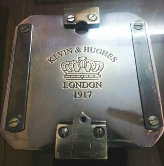 Nautical Brunton Compass Kelvin & Hughes London 1917 Maritime Heavy Brass 3