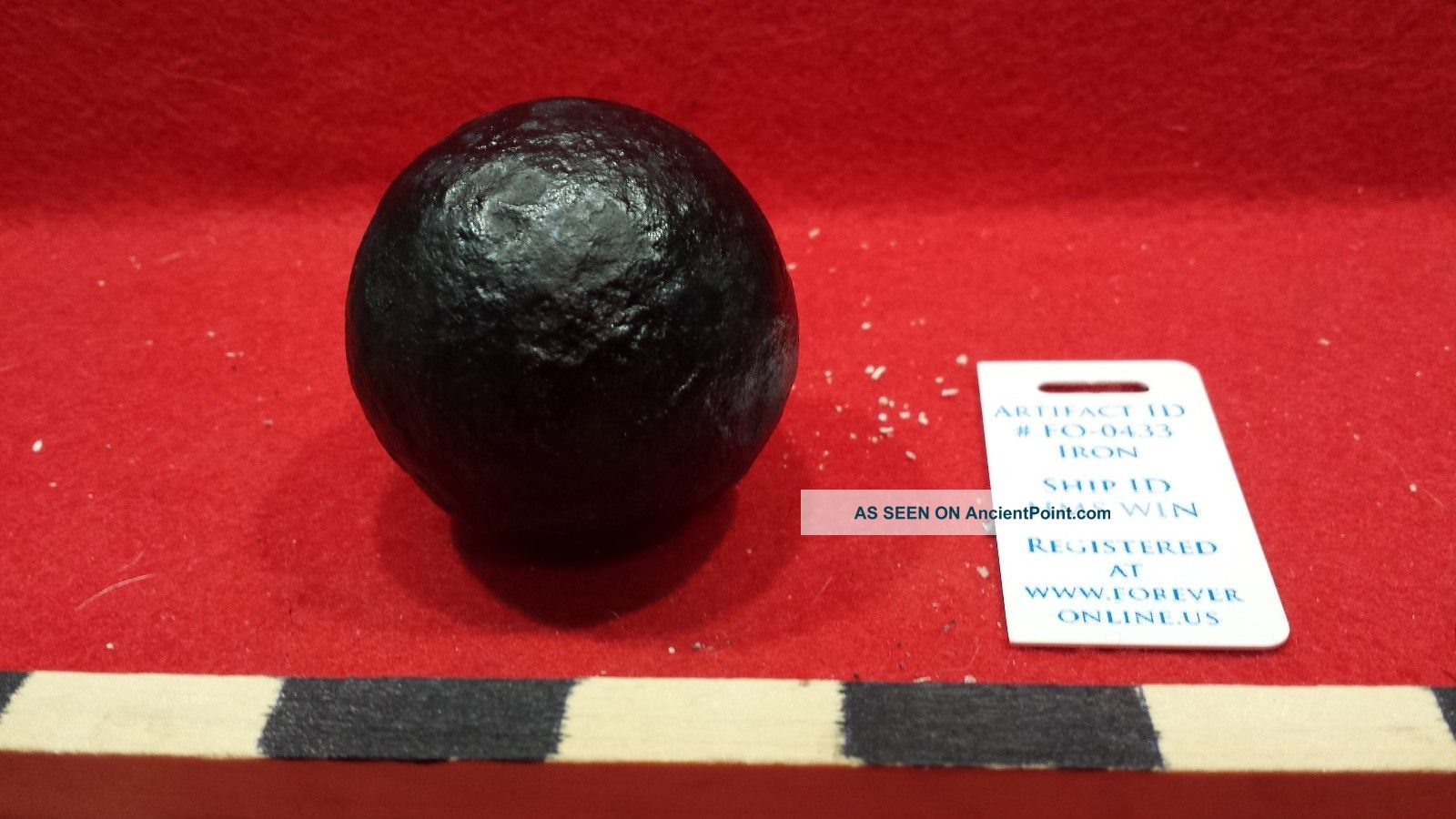 1lb Grape Shot - Cannon Ball.  Grade 1 Hms Winchester 1695 Shipwreck Artifact 433 Other Maritime Antiques photo