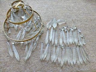 Vintage Glass Crystal Chandelier Droplets Spares / Repair photo