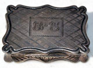Estate 1844 Edward Smith Birmingham Sterling Silver Vinaigrette - Rare - Es 925 photo