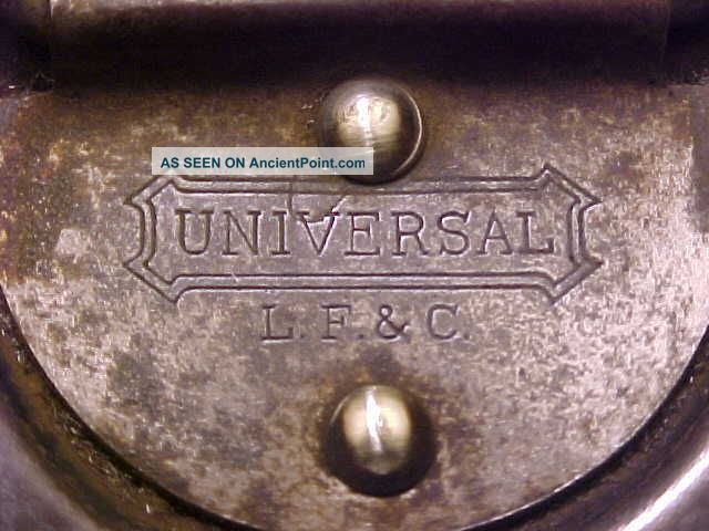 Universal L.  F.  & C.  Metal Slide Out Lunch Box 1900 ' S Antique Other Antique Home & Hearth photo