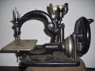 Antique Wilcox & Gibbs Hand Crank Sewing Machine photo