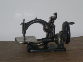Rare Antique Willcox & Gibbs Hand Crank Sewing Machine.  1894 photo