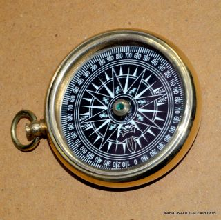 Old Style Solid Gift Brass Compass A Lovely Gift Compass Vintage Brass Compass photo