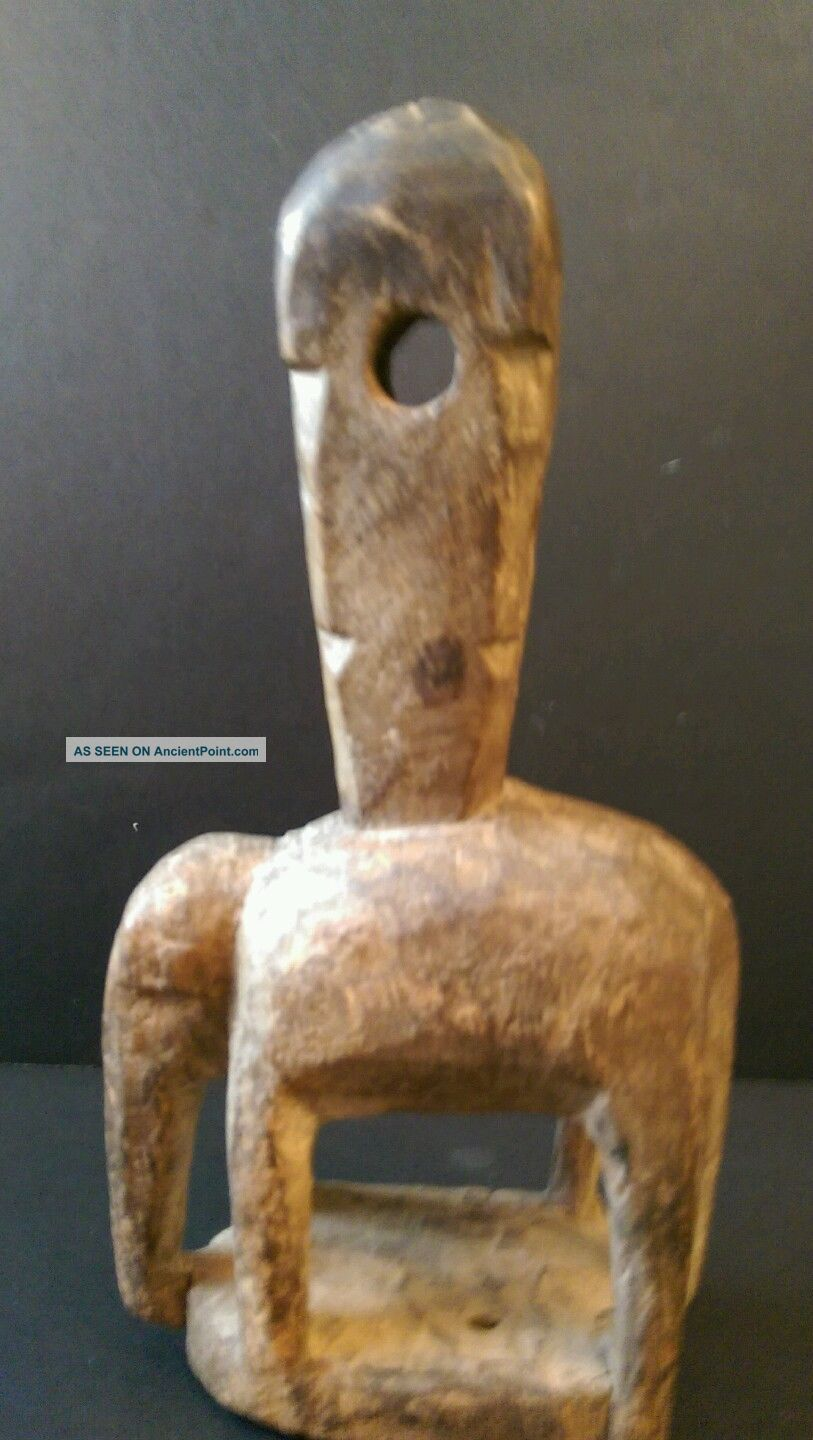 Very Old Carved Wooden Tribal Art Elephant Carrying A Mystical Hawdah? Sculptures & Statues photo