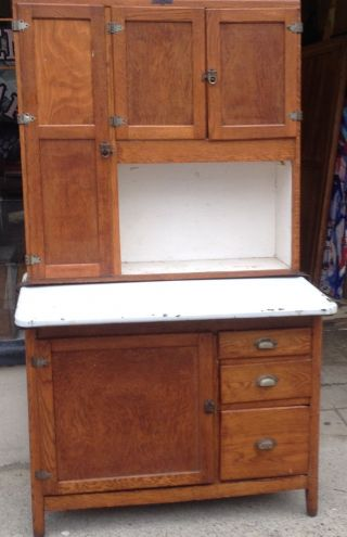 Antique Hoosier Cabinet Made By Napanee Dutch Kitchen Storage photo