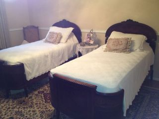 Antique Twin Beds Pair photo