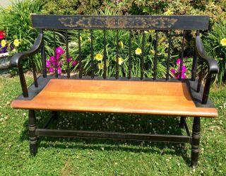 Vintage Hitchcock Bench Settee - Chair - Vgc - Conn photo