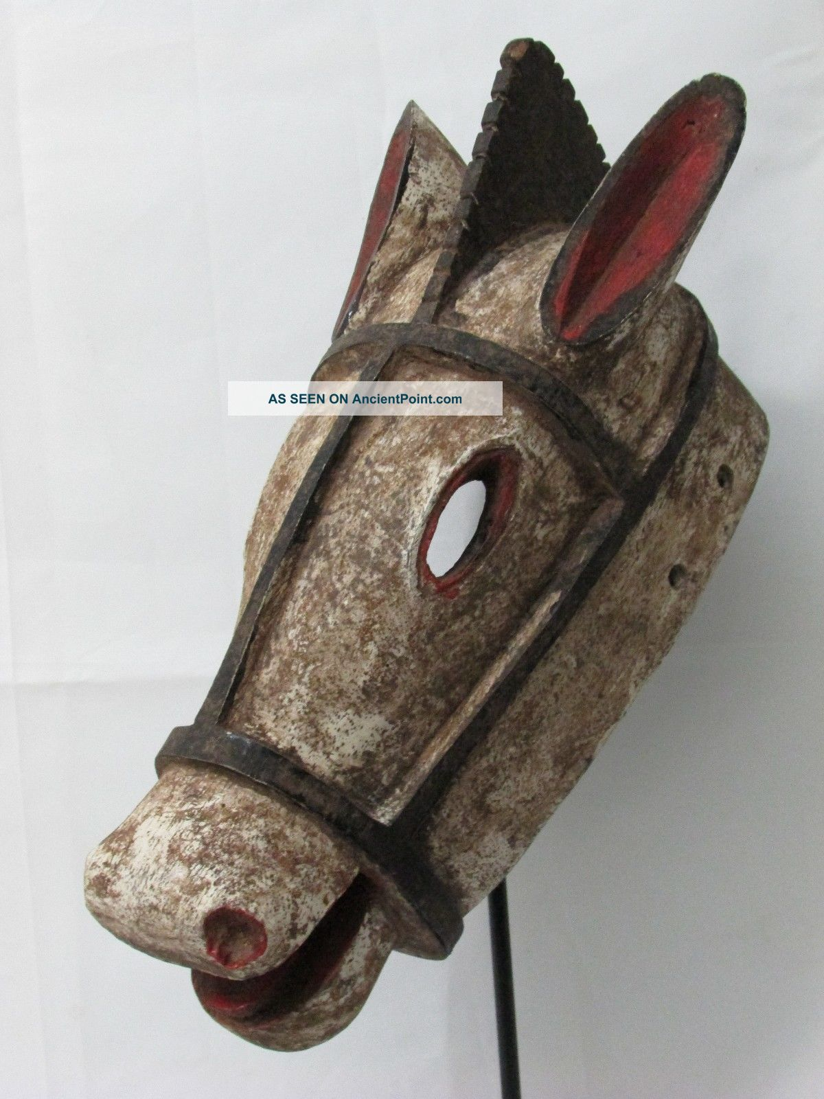 African Mask Bozo Animal Mask Horse Mask Tribal Art Collectible African Art Sculptures & Statues photo