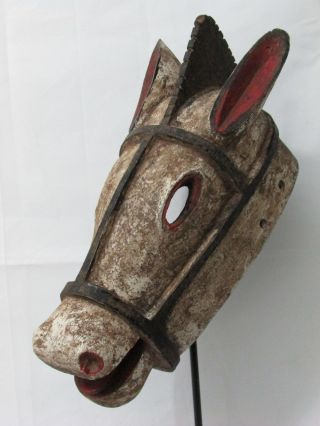 African Mask Bozo Animal Mask Horse Mask Tribal Art Collectible African Art photo