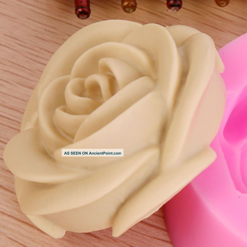 3d Rose Flower Fondant Cake Chocolate Sugarcraft Mold Cutter Silicone Tool 004 Other Antique Home & Hearth photo