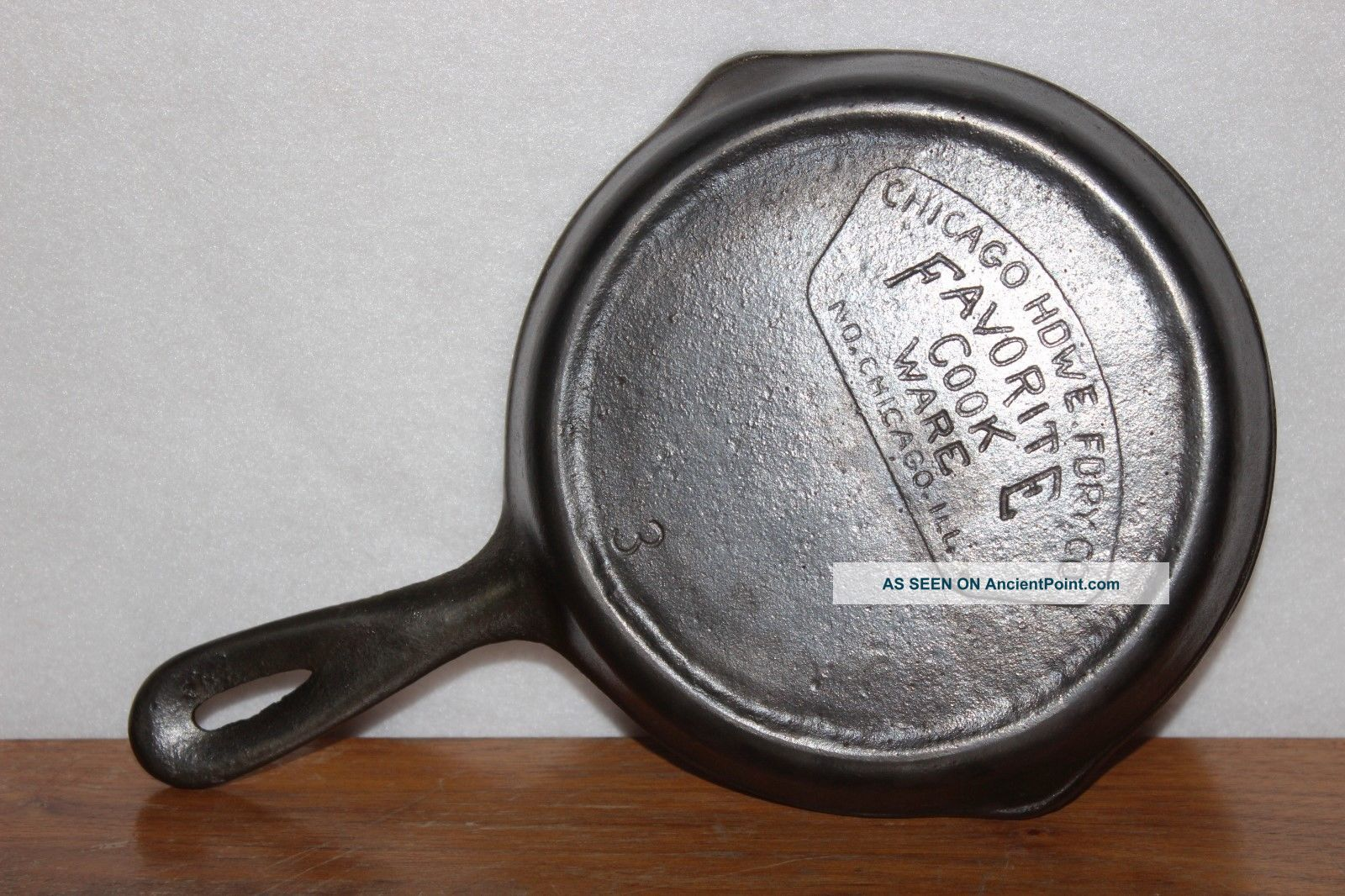 Circa 1934 Favorite Cook Ware 3 Cast Iron Skillet Chicago Hdwe Fdry Co (piqua) Other Antique Home & Hearth photo