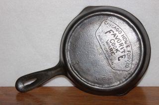 Circa 1934 Favorite Cook Ware 3 Cast Iron Skillet Chicago Hdwe Fdry Co (piqua) photo